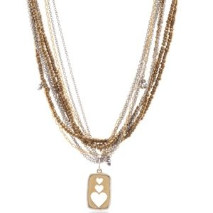eSBe - #10870 Sienna Hearts Multi-Chain Necklace